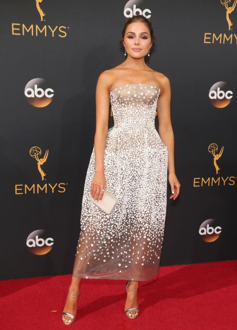 Olivia Culpo once again kills the red carpet game with a gorgeous Zac Posen…