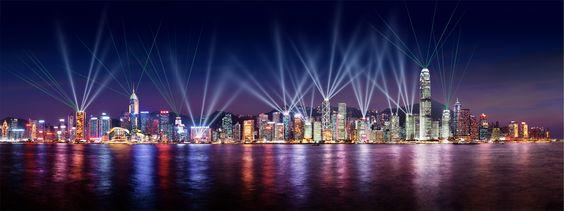 Le port de Hong Kong et son incroyable symphonie de lumière !