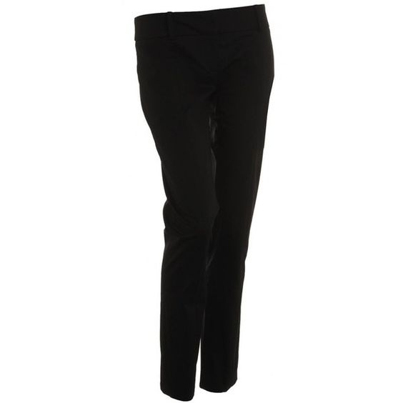 Patrizia Pepe Trousers Black Slim Fit Ankle Trousers ($190) ❤ liked on Polyvore