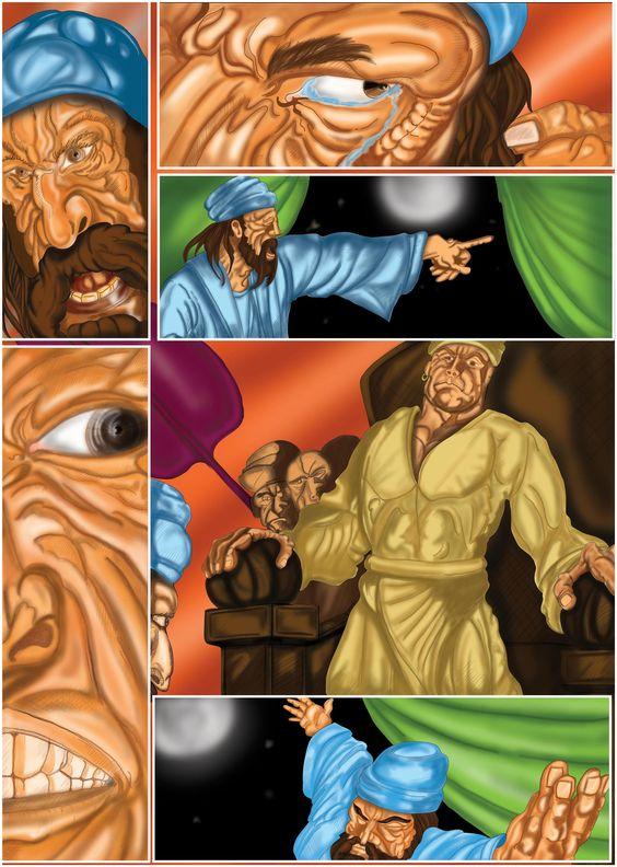 Adaptação Lusiadas - 1º Canto - Baco e o Rei de Melinde