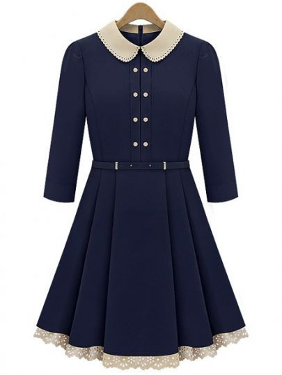 Peter pan collar dress This is so nice and the colour is just so beautiful