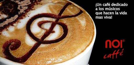 La música te transporta... El café te calma... Juntos llenan tu alma.