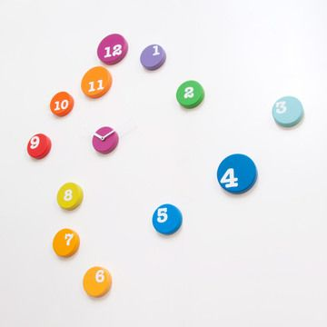 Designed by rnd_lab for Progetti, the Fun Time clock is a design that gives you the reigns. Originally available at the MoMA store, this fun and colorful clock allows you to mount each hour mark on your wall as you please. Use as many or as few hour markers as you like, take up a whole wall or use only the 12 and 6 for a minimal design.