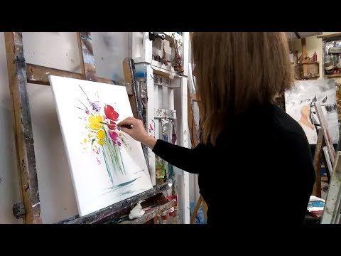 Youtube Avec Images Peinture Au Couteau Facile Peinture Au