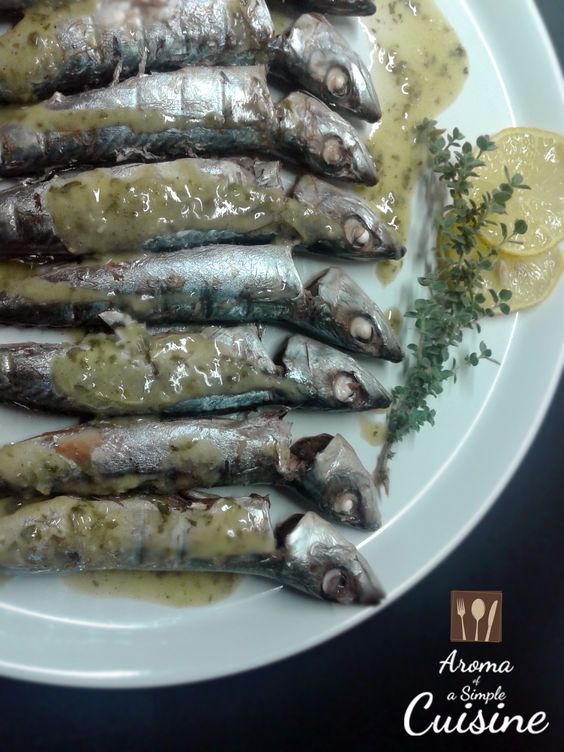 Aroma of a Simple Cuisine~Chub Macherel with salmoriglio sauce