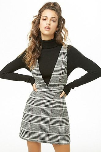 c9568fcf0d3 Glen Plaid Pinafore Dress
