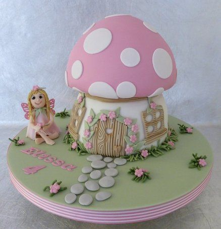Fairy and Toadstool Birthday Cake