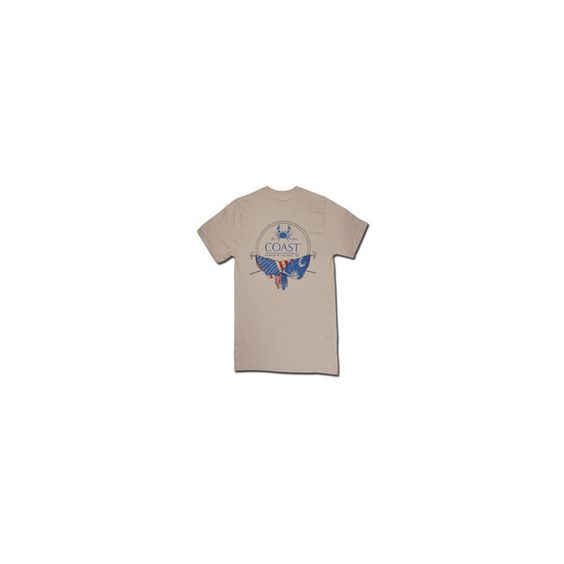 T-Shirt Heritage Crab Logo Oyster ❤ liked on Polyvore featuring tops, t-shirts, shirts, t shirts, shirts & tops, logo tee, logo shirts and logo tops