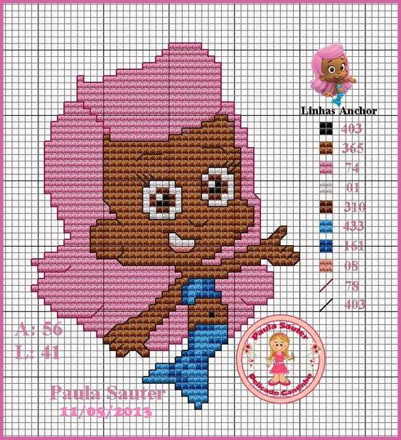 bubble guppies Molly | Plastic canvas | Pinterest | Bubble guppies y ...