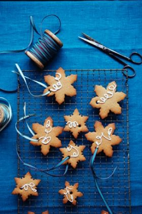 Rather attractive pepperkaker – spice cookies – cut in snowflake shapes. AND BEETROOT RECIPE