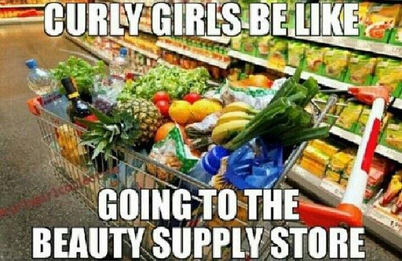 Oooh no we don't!... Okay maybe a little :/ lol. I do shop mostly at the grocery store for my crown rather than the beauty supply store. Hahahehe this pic hilarious tho  #natural #transitionedtonatural #curlfriends #naturalgirlsrock #naturalhair #naturalhairdoescare #curlygirl