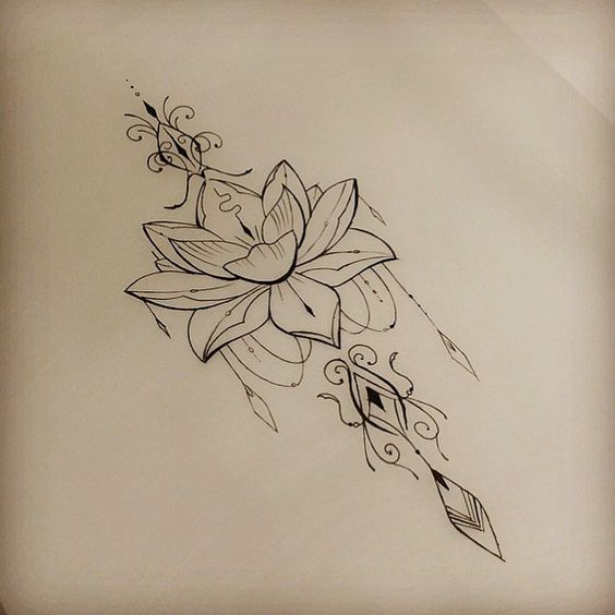 Lotus tattoo, Flower and Love the on Pinterest