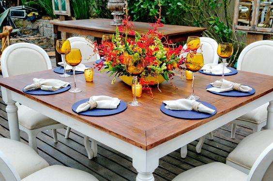 Mesa de jantar - Casamento Tainá e Pedro Henrique