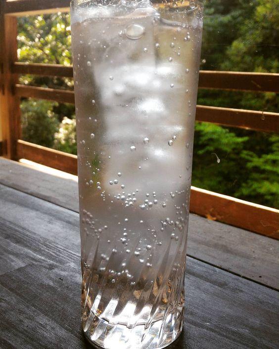 梅ソーダ  #箕面 #日本茶カフェ #日本茶バー #Minoo #Matcha #日本酒 #梅シロップ