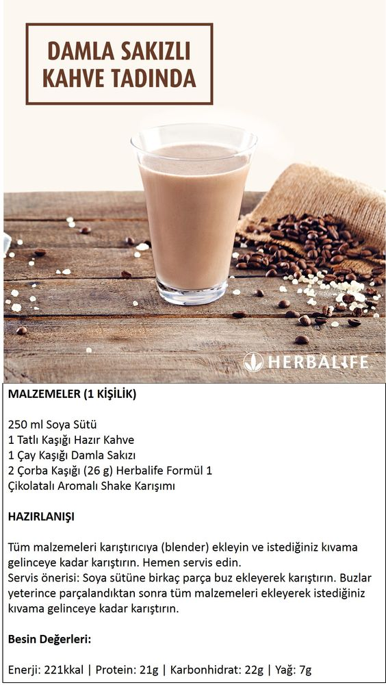 Herbalife Shake Tarifleri / Damla Sakızlı Kahve Tadında