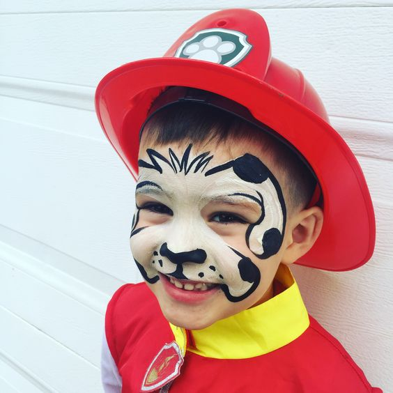 marshall from paw patrol face painting face painting pinterest birthdays costumes and boys. Black Bedroom Furniture Sets. Home Design Ideas