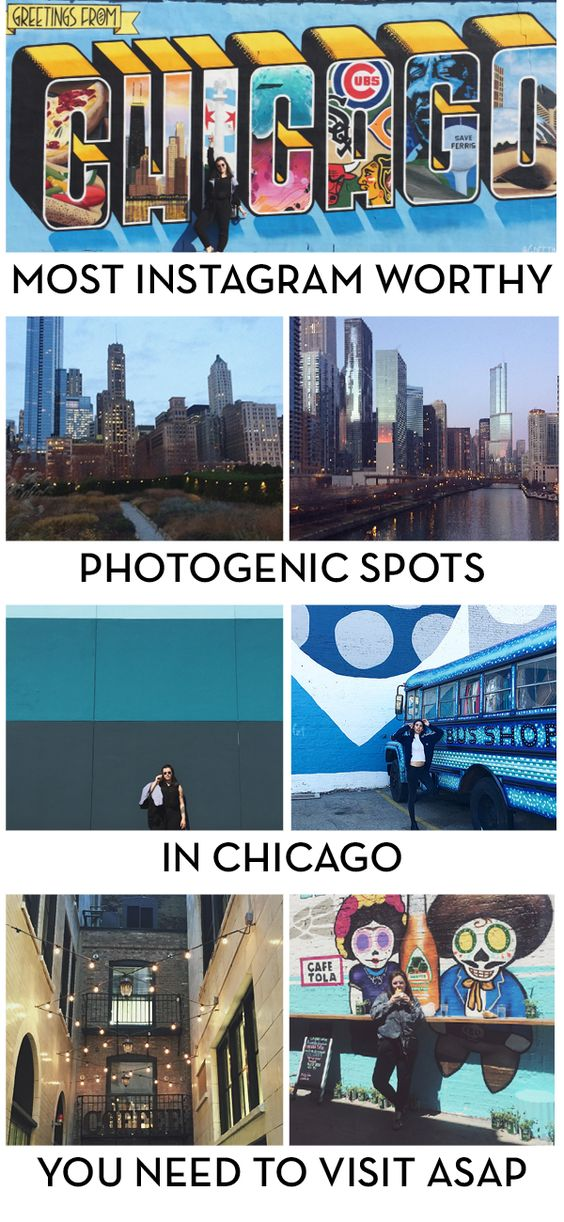 most instagram-worthy photogenic spots in chicago that you need to visit asap. Visiting Chicago? Live in Chicago and need to refresh your instagram page? Check out this post about all of the amazing photogenic places in Chicago, like street art, murals, sightseeing, beautiful views and more!