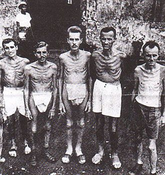 Image result for photos of US POWS at Cabanatuan pow camp