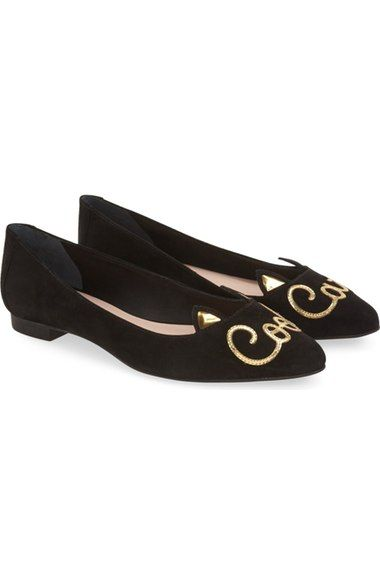 kate spade new york 'elektra' cat eared flat (Women) available at #Nordstrom