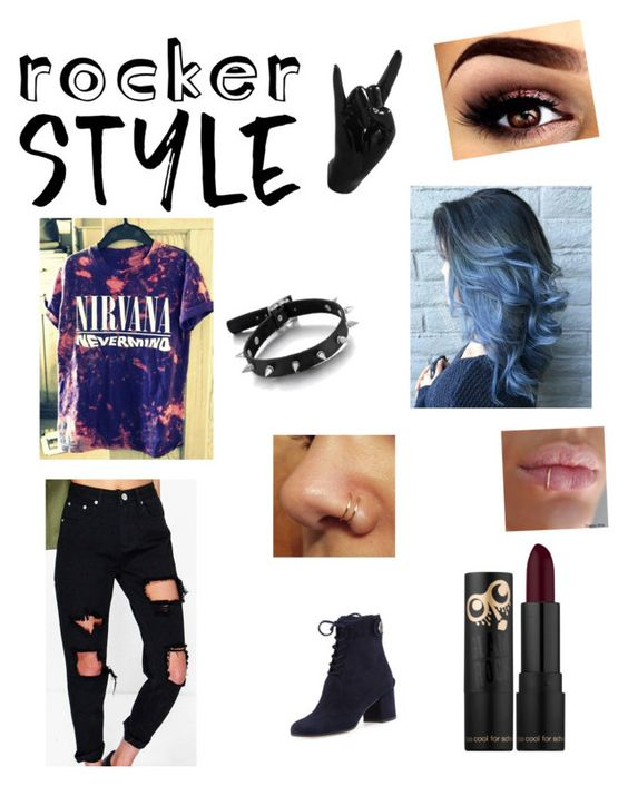 """""""Feeling like a rock star"""" by sharon-campos ❤ liked on Polyvore featuring Gianvito Rossi, Boohoo, Thelermont Hupton, rockerchic and rockerstyle"""
