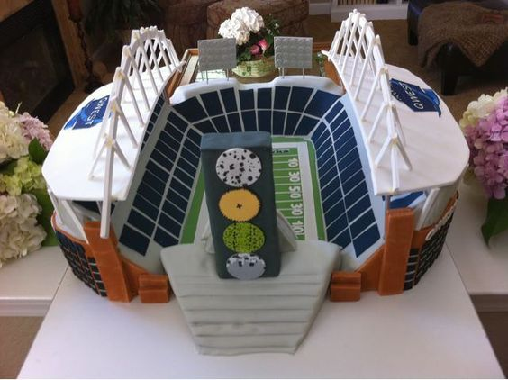 Another view for a Sounders stadium cake