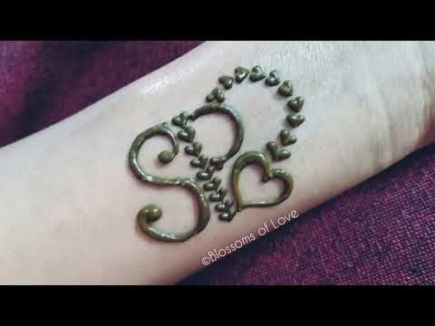Diy Henna Mehndi Tattoo Tattoo Design Beautiful P S Letter Tattoo 5 Different Easy Tatto Engagement Mehndi Designs Pretty Henna Designs Beginner Henna Designs