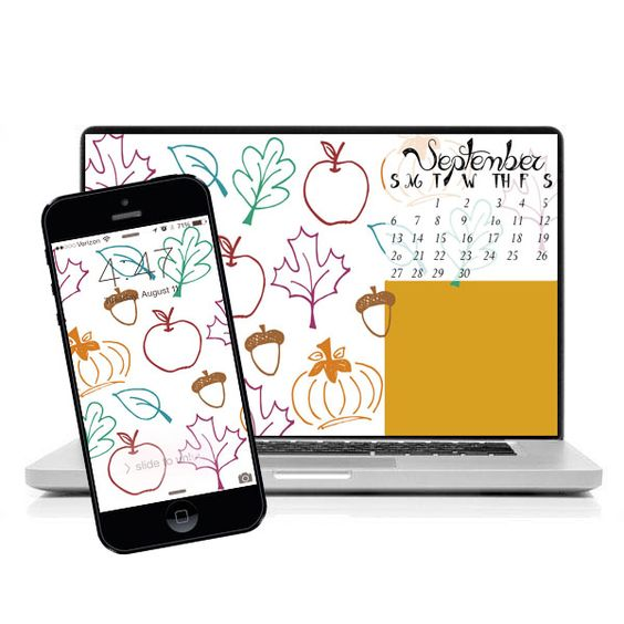 Use this wonderful September 2015 desktop and iPhone wallpaper to help you stay organized and celebrate the month of September and fall in style.