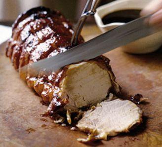 Guinness & honey glazed pork loin