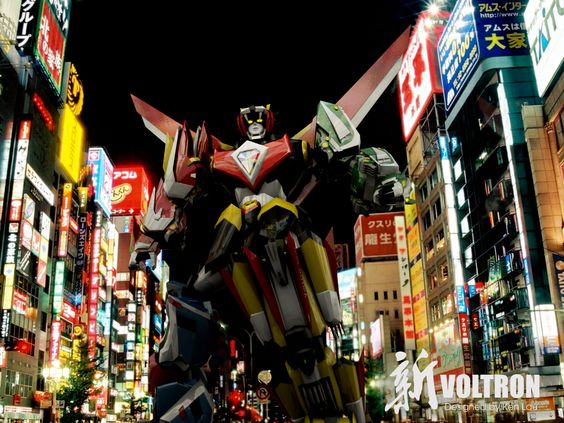 Voltron is attacking the city!