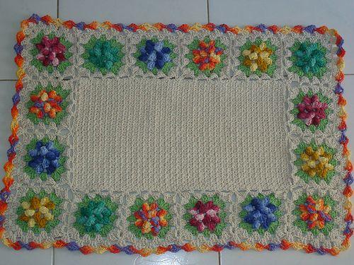 tapete flor pipoca colorida