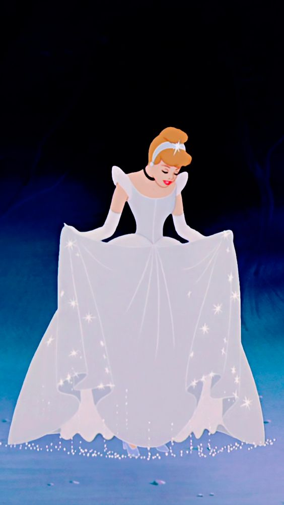 The beautiful sparkling dress of Cinderella Disney