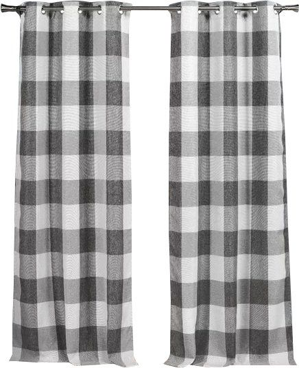 Rosenblum Plaid And Check Blackout Thermal Curtain Panels Check