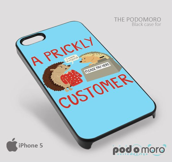 a Prickly Customer for iPhone 4/4S, iPhone 5/5S, iPhone 5c, iPhone 6, iPhone 6 Plus, iPod 4, iPod 5, Samsung Galaxy S3, Galaxy S4, Galaxy S5, Galaxy S6, Samsung Galaxy Note 3, Galaxy Note 4, Phone Case