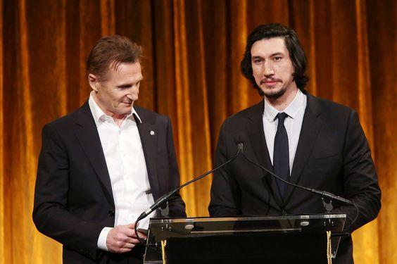 Liam Neeson and Adam Driver