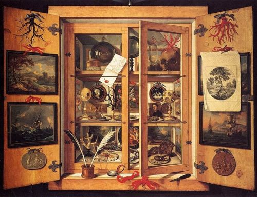 Cabinet of Curiosities (ca.1695) by Domenico Remps, held in the Opificio delle Pietre Dure, Florence