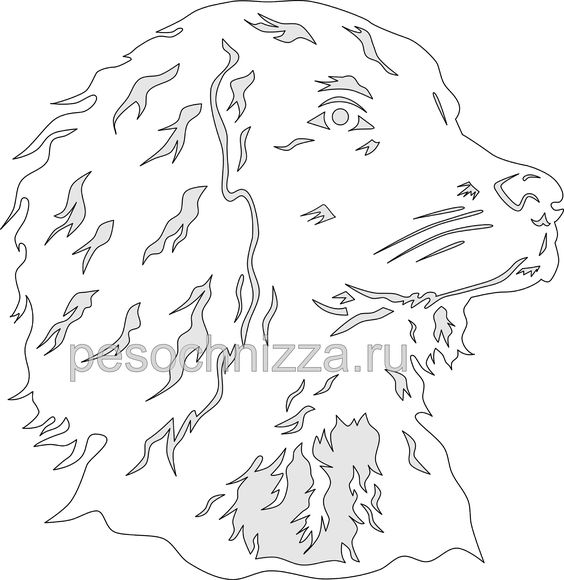 sobaka_kartina_iz_bumagi_spaniel_paper_cutting_dog.png (2913×2997)