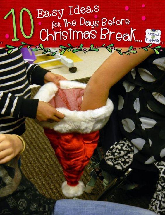 Classroom Break Ideas : Easy classroom christmas ideas for that last crazy week