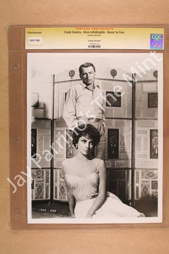 DC738 CGC Photo Frank Sinatra Gina Lollobrigida Never So Few 1959 | eBay
