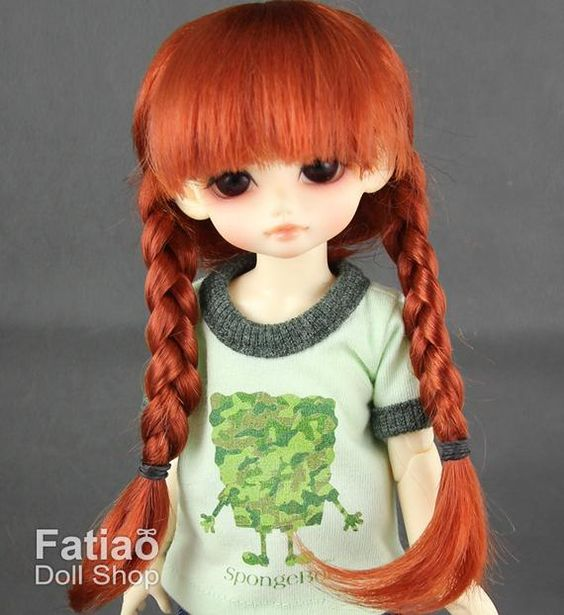 New Carrot Mohair Doll Wig Dollfie Yo-SD 1//6 BJD 6-7/""