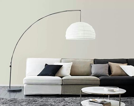 Lamps couch and ikea on pinterest for Arched floor lamp ikea