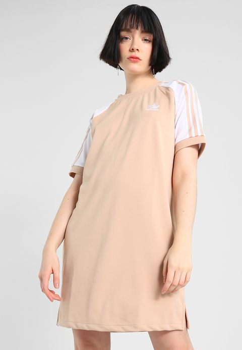 adidas Originals ADICOLOR RAGLAN DRESS - Jerseyjurk - ash ...
