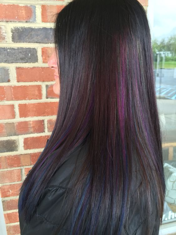 Beautiful oil slick hair my Nicole Totorello at beyond the fringe in Hillsborough NJ: