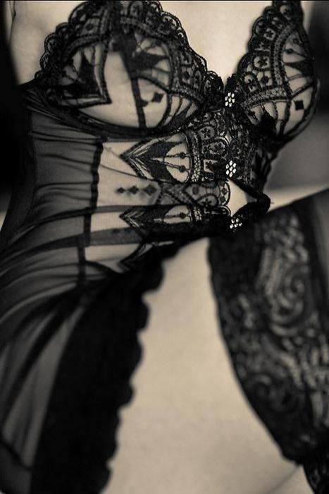 Silk and lace.