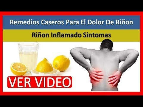 Los dolor rinones sintomas en