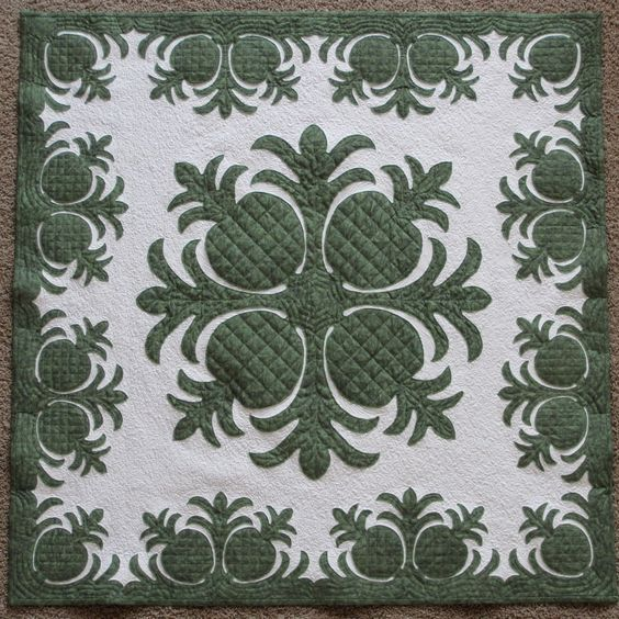 hawaiian quilt pattern - I have an idea to stencil something like this either on the ceiling of the covered porch or the floor.