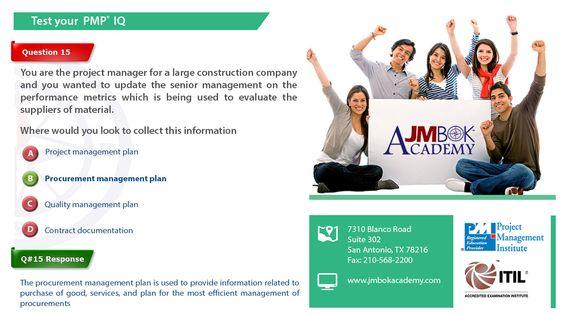 JMBOK Academy - #PMP Training and PMP Certification JMBOK - quality management plan