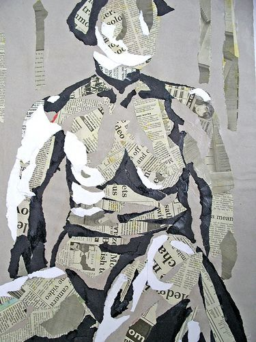 Collage: Life Drawing