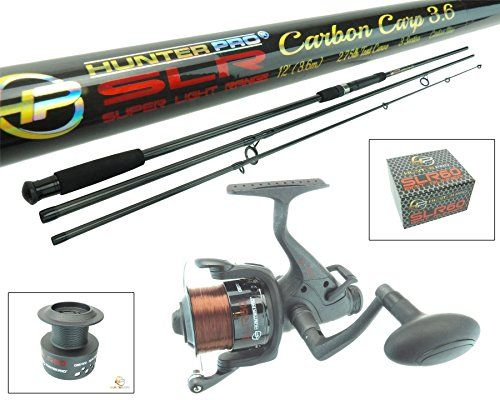 Hunter Pro 12ft Carbon Carp Rod Bait Free Runner Reel Carp Combo Set Slr Range Includes Spare Spool Hunter Pro 3 Carp Rods Fishing Storage Carp