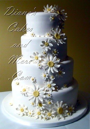 daisy wedding cakes pictures wedding flower and cakes on 13315