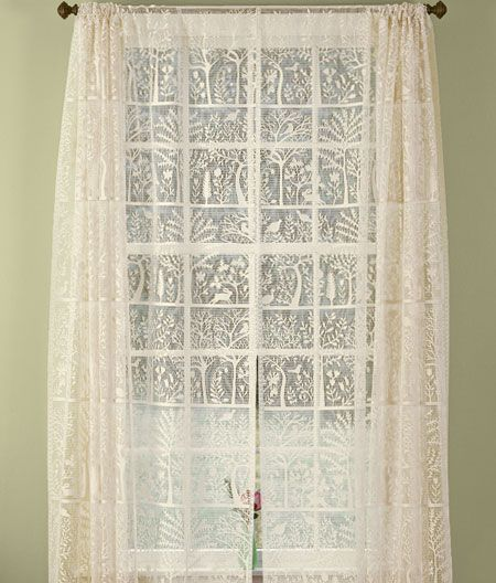Additional Views Tree Of Life Lace Rod Pocket Panel
